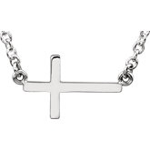 Stuller-Sideways Cross Necklace R45323