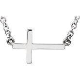 Stuller-Sideways Cross Necklace R45323