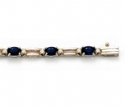 David Connolly-Sapphire and Diamond Bracelet in White Gold Style B42645SAW