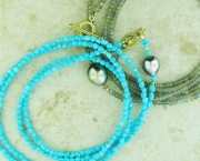 Naifeh-bracelet- beads come in turquoise, peridot, hematite and various other stones