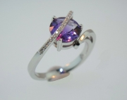 Breuning- Amethyst and Diamond Ring 41041820