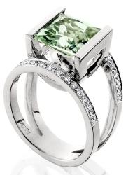 Aurum Jewelry- White Gold/Green Amethyst-Style ads_4056