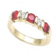 Spark Creations- Ruby and Diamond Ring in 18K Yellow Gold Style r3019r