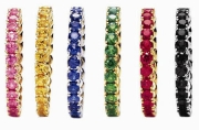 Spark Creations- Stackable Gemstone and Diamond Bands R4084-all