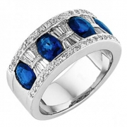 Spark Creations- Sapphire and Diamond Ring-# R 5621-S