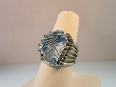 "John Dyer Blue Topaz ""Dreamscape"" Ring for Customer"