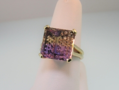 Designer-Cut Ametrine Ring