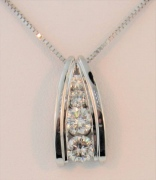 Pendant with Four Family Heirloom Diamonds