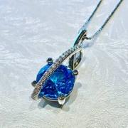 Designer Cut Blue Topaz Pendant