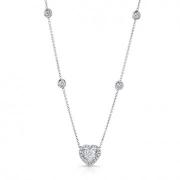 Uneek Jewelery-heart shaped diamond necklace-#NEK150
