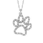 David Connolly-Gold&Diamond Puppy Paw Pendant-3037W
