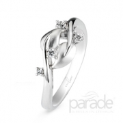 Lyria Leaves Diamond Band by Parade- #BD2839A