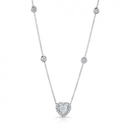 Uneek Jewelery-heart shaped diamond necklace-#NEK150