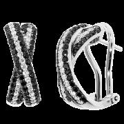 Spark Creations-Black/White Diamond earrings-#E6004-BD