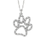 David Connolly-Gold&Diamond Puppy Paw Pendant-3037W