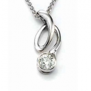 David Connolly-Diamond bezel pendant-#3018
