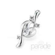 Parade-Lyria Leaves Pendant with two leaves and four diamonds P2839A