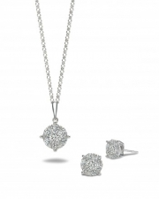 A. Link and Co.-diamond cluster pendant, luminous collection