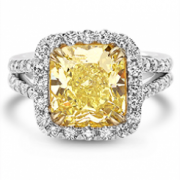 David Weitz & Sons-Yellow Diamond Engagement Ring