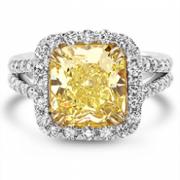 David Weitz & Sons-Yellow Diamond Engagement Ring