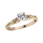 Jabel-two tone band solitaire-BL311914PG