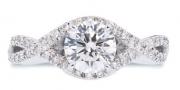 Lazare Kaplan- Classic Endless Twist Diamond Semi-mount