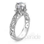 Parade Design- Floral Diamond Semi-Mount Style r2901-r1