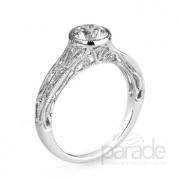 Parade Design- Bezel Set Diamond Semi-Mount Style r3051-r1-bz