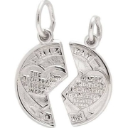 Rembrandt Charms, Dearborn Jewelers of Plymouth, MI- Break-Apart Mizpah Charm in Sterling Silver