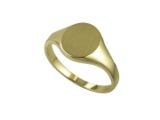 Church and Co- Ladies Yellow Gold Signet Ring- Engravable Style 1716B