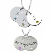 Stuller Posh Mommy-Disc Pendants Engraved with Initials or Names