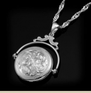 Artistry, Ltd- Revolving Round Sterling Silver Locket