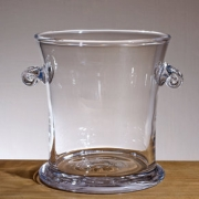 Simon Pearce glass ice bucket