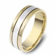 Dora Bands, Dearborn Jewelers of Plymouth, MI- Two Tone Gold Band