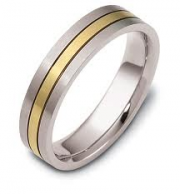 Dora Bands- Two Tone Gold Band