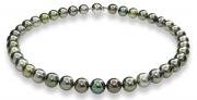 Mastoloni Pearls- Silver and Black Tahitian Pearl Strand