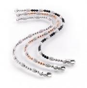 Officina Bernardi- Bracelets in Black, Sterling and Pink