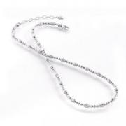 Officina Bernardi- Sterling Silver with Platinum Beaded Necklace