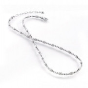 Officina Bernardi- Sterling Silver with Platinum Beaded Necklace