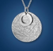 Artistry, Ltd.-Sterling Silver Textured Round Pendant Style SNF75MP