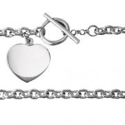 Marathon -Sterling Silver Heart Charm Bracelet