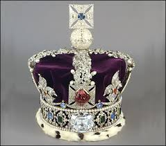 "British Imperial Crown with the ""Black Prince's Ruby"""