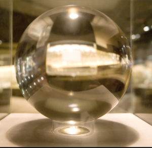 Flawless Quartz Crystal Sphere at the Smithsonian Natural History Museum (106.75 lbs)