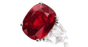 Burmese, 25.29 carat Ruby, sold in 2015 for $30.3 million